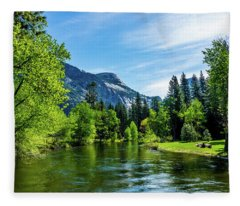 Merced River In Yosemite Valley Fleece Blanket