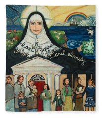 Mercy Foundress Catherine Mcauley Fleece Blanket