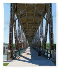 Meridian Bridge Fleece Blanket