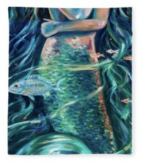 Mermaid Swirl Glow Fleece Blanket