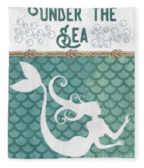 Mermaid Waves 2 Fleece Blanket