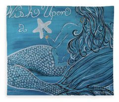 Mermaid- Wish Upon A Starfish Fleece Blanket