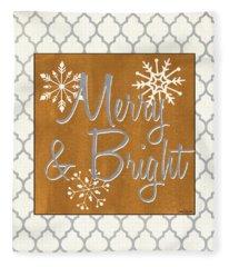 Merry And Bright Fleece Blanket
