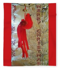 Merry Christmas Cardinal Fleece Blanket