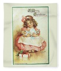 Merry Christmas For My Dolly Fleece Blanket