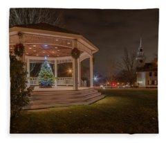 Merry Christmas From Milton Massachuetts Fleece Blanket