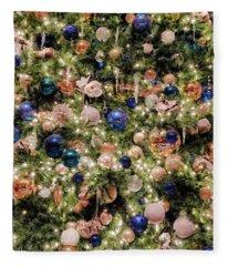 Merry Christmas Lights And Balls Fleece Blanket