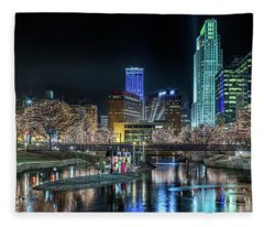 Merry Christmas Omaha Fleece Blanket