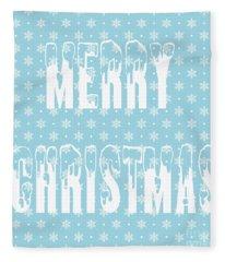 Merry Christmas Pillow Fleece Blanket
