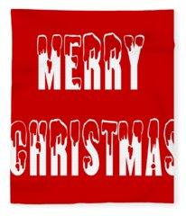 Merry Christmas Tee Fleece Blanket
