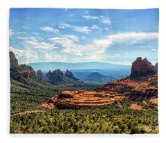 Merry Go Round Arch, Sedona, Arizona Fleece Blanket