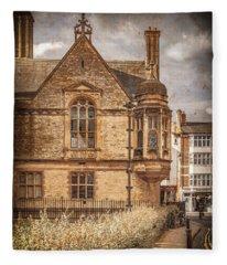 Oxford, England - Merton Street Fleece Blanket