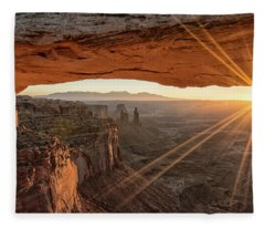 Mesa Arch Sunrise 4 - Canyonlands National Park - Moab Utah Fleece Blanket