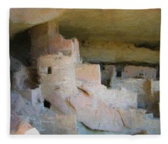 Mesa Verde Oil Fleece Blanket