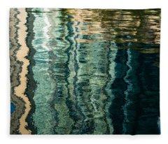 Mesmerizing Abstract Reflections Two Fleece Blanket