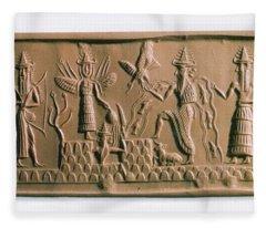 Mesopotamian Gods Fleece Blanket
