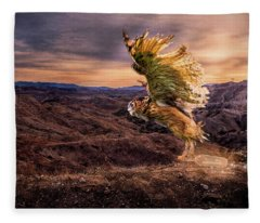 Messenger Of Hope Fleece Blanket