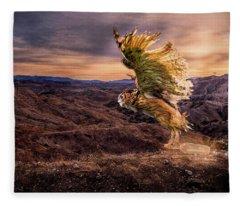 Messenger Of Hope Fleece Blanket