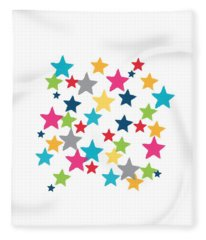 Messy Stars- Shirt Fleece Blanket