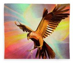 Metal Bird 1 Of 4 Fleece Blanket