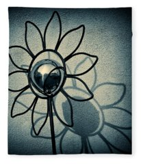 Metal Flower Fleece Blanket