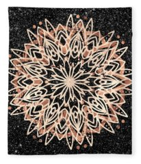 Metallic Mandala Fleece Blanket