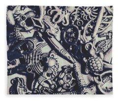 Metallic Seas Fleece Blanket