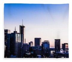 Metallic Sunset Fleece Blanket
