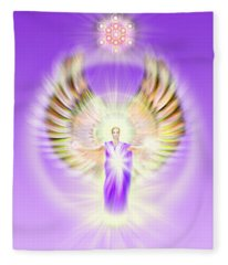 Metatron - Pastel Fleece Blanket