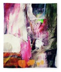 Metro 2- Art By Linda Woods Fleece Blanket