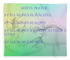 Metta Prayer Fleece Blanket