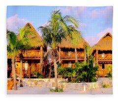 Mexican Cabanas Fleece Blanket
