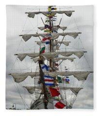 Mexican Navy Ship Fleece Blanket