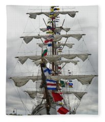Mexican Navy Ship Fleece Blanket