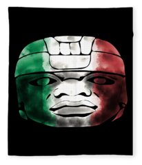 Mexican Olmec Fleece Blanket
