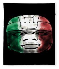 Mexican Olmec Fleece Blanket