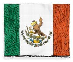 Mexico Flips Bird Fleece Blanket