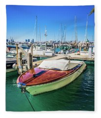 Miami Beach Marina 4505 Fleece Blanket
