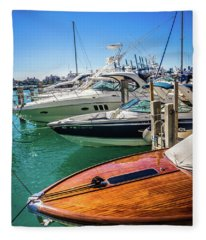 Miami Beach Marina 4507 Fleece Blanket