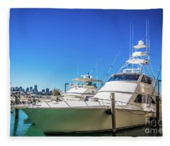 Miami Beach Marina 4529 Fleece Blanket