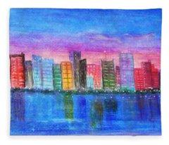 Miami Port Fleece Blanket