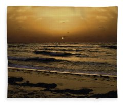 Miami Sunrise Fleece Blanket
