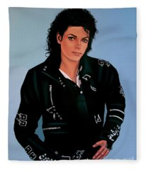 Music King Of Pop Fleece Blankets
