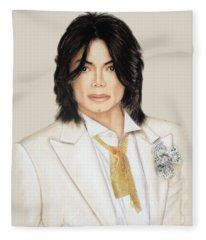 Man In The Mirror  Fleece Blanket