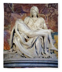 Michelangelo's Pieta Fleece Blanket