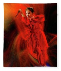 Michelle Ahl To The Rescue Fleece Blanket