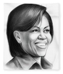 Michelle Obama Fleece Blanket