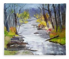 Michigan Stream Fleece Blanket