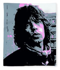 Mick Jagger In London Fleece Blanket