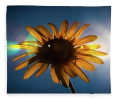 Mid Afternoon Sunflower Fleece Blanket